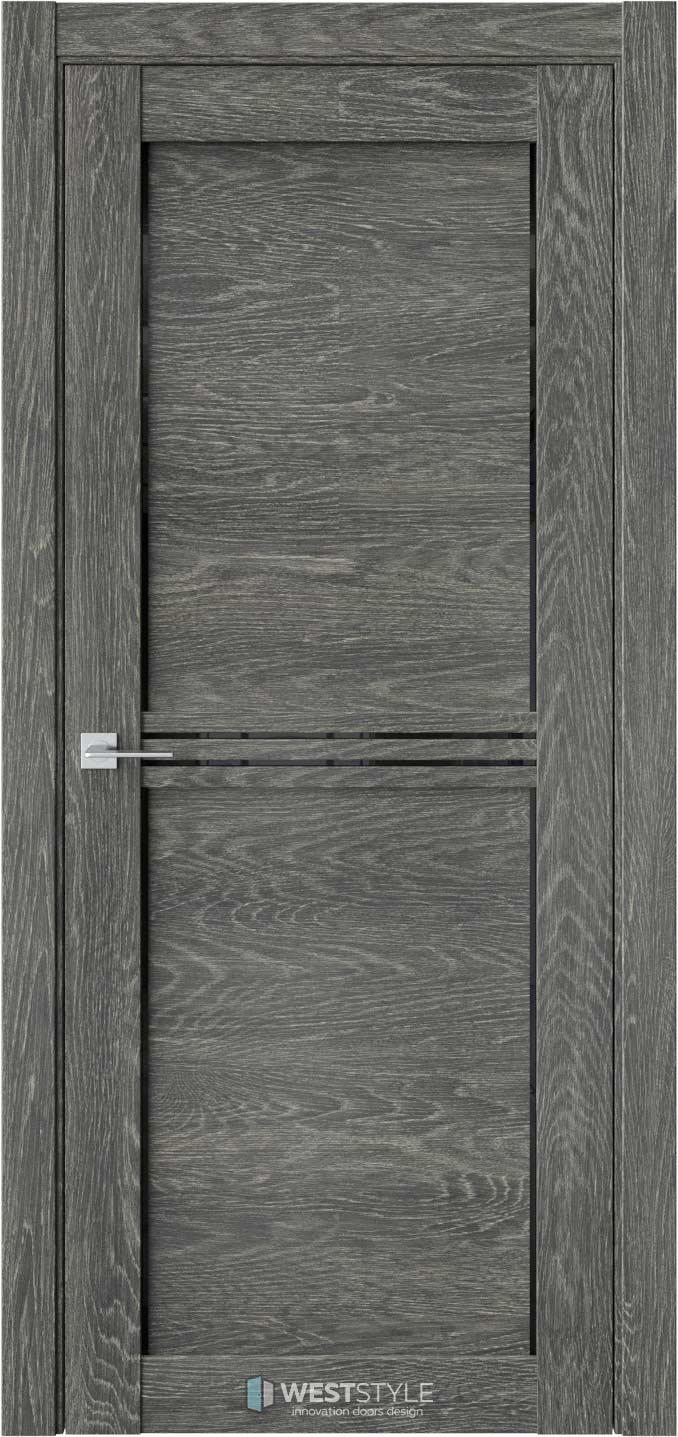 Межкомнатная дверь XC 2 Платинум черное стекло