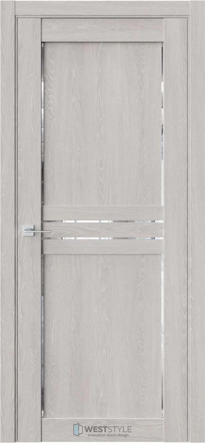 Межкомнатная дверь XC 3 Дуб Серый стекло