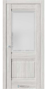 Межкомнатная дверь Ch 6 Дуб Оксфорд стекло 4