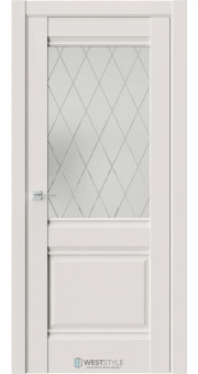 Межкомнатная дверь Ch 6 Emlayer Серый стекло 3