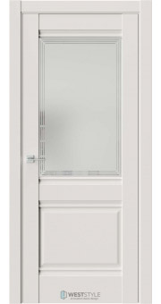 Межкомнатная дверь Ch 6 Emlayer Серый стекло 4
