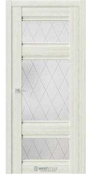 Межкомнатная дверь ChE 10 Клён Крем стекло 1
