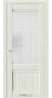 Межкомнатная дверь ChE 6 Клён Крем стекло 5