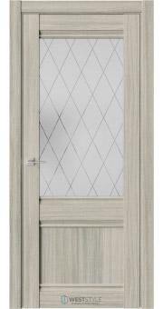 Межкомнатная дверь ChE 6 Вудекс Скальный стекло 2