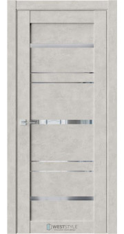 Межкомнатная дверь CZ 8 Бетон Смоки стекло-зеркало графит