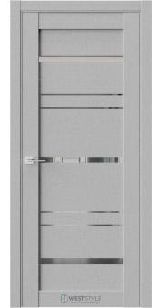 Межкомнатная дверь CZ 8 Интенсо стекло-зеркало графит
