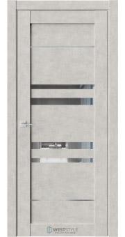 Межкомнатная дверь CZ 9 Бетон Смоки стекло-зеркало графит