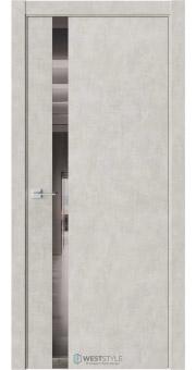 Межкомнатная дверь ЭКЗОТИКА 10E Бетон Смоки стекло-зеркало