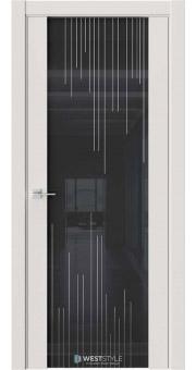 Межкомнатная дверь E7 Emlayer серый черное стекло P5