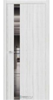 Межкомнатная дверь EVO 1 Клён Айс стекло-зеркало