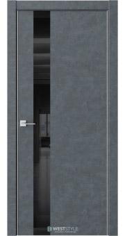 Межкомнатная дверь IN 2 Бетон Маренго черное стекло