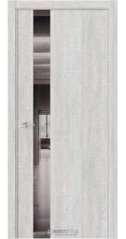 Межкомнатная дверь IN 2 Дуб Оксфорд стекло-зеркало графит