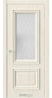 Межкомнатная дверь KB 4 Дуб Джентл стекло 2