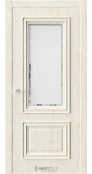 Межкомнатная дверь KB 4 Дуб Джентл стекло 1
