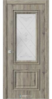 Межкомнатная дверь KB 4 Дуб Эссе стекло 3