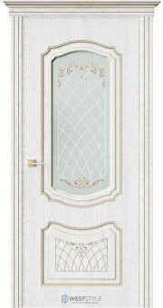 Межкомнатная дверь МАДЛЕН Дуб Винта стекло