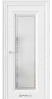 Межкомнатная дверь Monte 2 Emlayer белый стекло