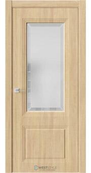 Межкомнатная дверь Monte 4 Сенди стекло