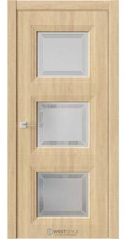 Межкомнатная дверь Monte 6 Сенди стекло