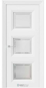 Межкомнатная дверь Monte 6 Emlayer белый стекло