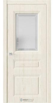 Межкомнатная дверь Monte 8 Дуб Джентл стекло