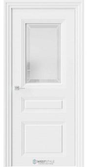 Межкомнатная дверь Monte 8 Emlayer белый стекло