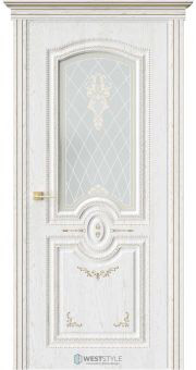 Межкомнатная дверь МОЦАРТ Дуб Винта стекло