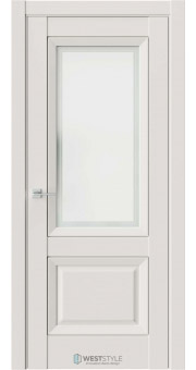 Межкомнатная дверь PL 4F Серая стекло 1