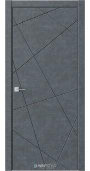 Межкомнатная дверь Prime P1 Бетон Маренго