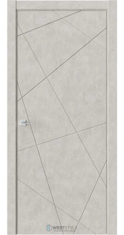 Межкомнатная дверь Prime P1 Бетон смоки