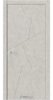 Межкомнатная дверь Prime P4 Бетон смоки