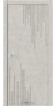 Межкомнатная дверь Prime P5 Бетон смоки