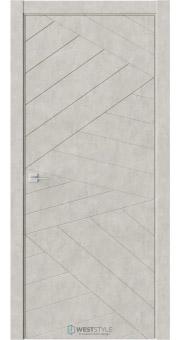 Межкомнатная дверь Prime P7 Бетон смоки