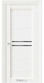 Межкомнатная дверь QP 2 Даймонд черное стекло