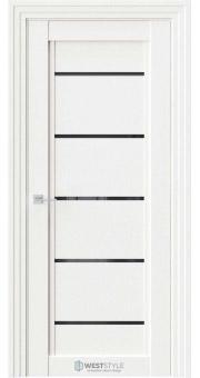 Межкомнатная дверь QP 3 Даймонд черное стекло