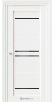 Межкомнатная дверь QP 5 Даймонд черное стекло