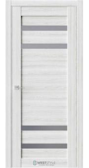 Межкомнатная дверь RE20 Клён Айс стекло