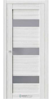 Межкомнатная дверь RE41 Клён Айс стекло