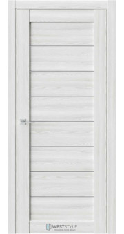 Межкомнатная дверь RE48 Клён Айс стекло