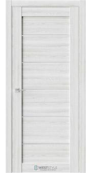 Межкомнатная дверь RE6 Клён Айс стекло