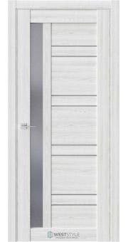 Межкомнатная дверь RE72 Клён Айс стекло