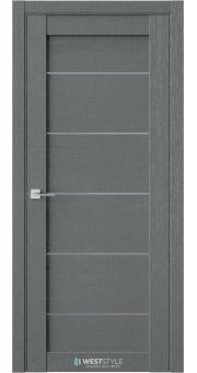 Межкомнатная дверь RL 3 Сильвер стекло-графит