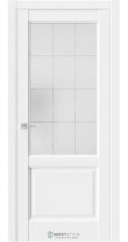 Межкомнатная дверь SE 4 Белая стекло 1
