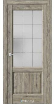 Межкомнатная дверь SE 4 Дуб Эссе стекло 1