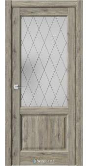 Межкомнатная дверь SE 4 Дуб Эссе стекло 4