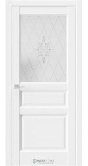 Межкомнатная дверь SE 8 Белая стекло 1