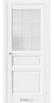 Межкомнатная дверь SE 8 Белая стекло 3