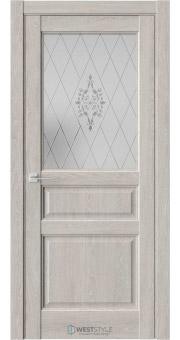 Межкомнатная дверь SE 8 Дуб Серый стекло 1