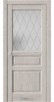 Межкомнатная дверь SE 8 Дуб Серый стекло 2