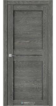 Межкомнатная дверь XC 1 Платинум черное стекло